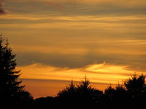 Sonnenuntergang über Kenmare, Kerry Ireland Lizenzfreie Stockfotografie