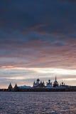 Sonnenuntergang über Kloster Stockbilder