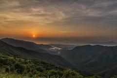 Sonnenuntergang über Lantau Lizenzfreie Stockbilder