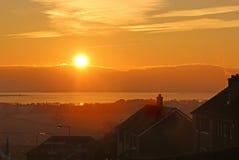 Sonnenuntergang über Loch Leven Lizenzfreie Stockfotografie