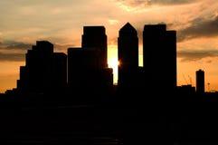 Sonnenuntergang über London im Stadtzentrum gelegen Lizenzfreie Stockfotos