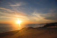 Sonnenuntergang über Meer Lizenzfreie Stockfotografie
