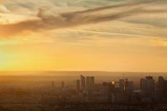 Sonnenuntergang über Paris Lizenzfreie Stockfotografie