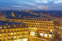 Sonnenuntergang über Paris Stockbild