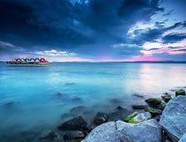 Sonnenuntergang über Plattensee Lizenzfreie Stockfotografie