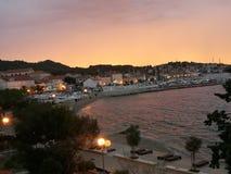 Sonnenuntergang über Preko Lizenzfreie Stockfotografie