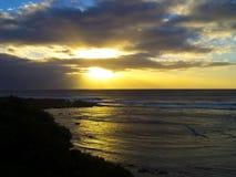 Sonnenuntergang über Riff Lizenzfreie Stockfotos
