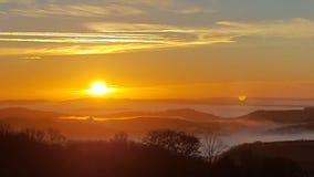 Sonnenuntergang über Süd-Devon Stockbild