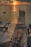 Sonnenuntergang über Schwarzem Meer Stockfotos