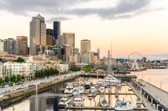 Sonnenuntergang über Seattle Stockfotografie