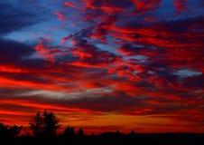 Sonnenuntergang über Stadt Lizenzfreies Stockfoto
