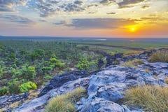 Sonnenuntergang über Ubirr Stockfotografie