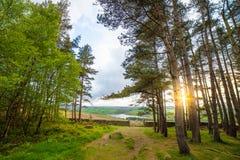 Sonnenuntergang über Yorkshire-Tal-Nationalpark Lizenzfreie Stockbilder