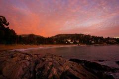 Sonnenuntergang über Zapallar Stockbild