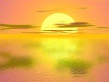 Sonnenuntergang lizenzfreie abbildung