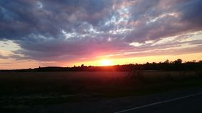 Sonnenuntergang Foto de archivo libre de regalías