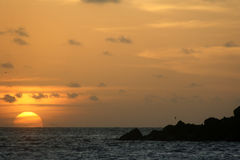 Sonnenuntergang in Abrolhos Stockbild