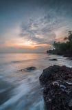 Sonnenuntergang an Aceh-Strand Stockfotografie