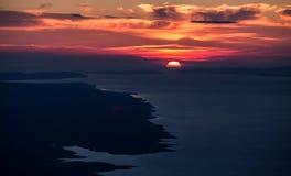 Sonnenuntergang in Adria Lizenzfreies Stockfoto