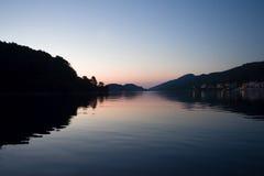 Sonnenuntergang in Adria lizenzfreies stockbild