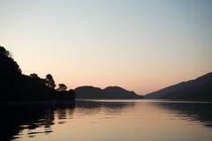 Sonnenuntergang in Adria stockfotos