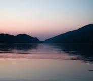 Sonnenuntergang in Adria lizenzfreie stockbilder