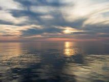 Sonnenuntergang in adriatischem Meer Stockfotos
