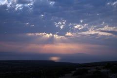 Sonnenuntergang, adriatisches Meer Stockfoto