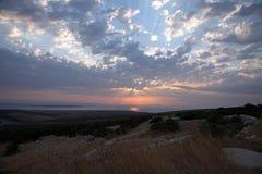 Sonnenuntergang, adriatisches Meer Stockfotografie