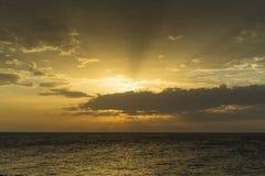 Sonnenuntergang-adriatisches Meer Kroatien Stockfoto