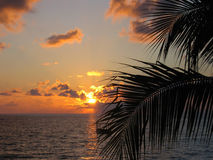 Sonnenuntergang in Aegina Griechenland Lizenzfreie Stockfotografie