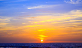 Sonnenuntergang in Agadir, Marokko Lizenzfreies Stockfoto