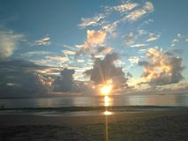 Sonnenuntergang Aguadillia Puerto Rico Sunset lizenzfreie stockfotos