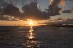 Sonnenuntergang Ala, Moana Stockfotografie