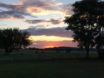 Sonnenuntergang-Alarm stockfotos