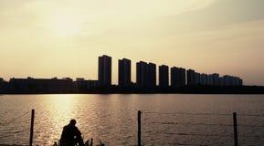 Sonnenuntergang allein Stockbilder