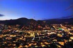Sonnenuntergang an Amasya-Stadt die Türkei lizenzfreies stockfoto