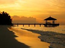 Sonnenuntergang-Anlegestelle Lizenzfreie Stockfotografie