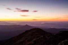 Sonnenuntergang-Ansicht Mt Buller Lizenzfreie Stockfotografie