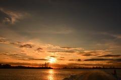 Sonnenuntergang-Ansicht von der Fähren-Dachspitze lizenzfreie stockbilder