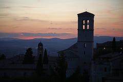 Sonnenuntergang Assisi Lizenzfreies Stockbild