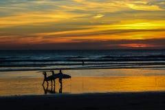 Sonnenuntergang Atlantik lizenzfreie stockbilder