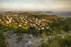 Sonnenuntergang auf ÄŒelinka-Standpunkt Lizenzfreies Stockbild
