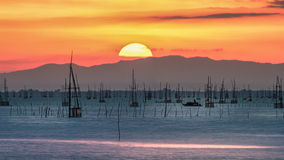 Sonnenuntergang auf Berg Lizenzfreies Stockbild
