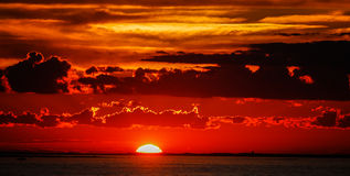 Sonnenuntergang auf Block-Insel Stockfotos