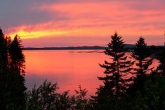 Sonnenuntergang auf Campobello Insel Stockfotografie