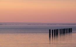 Sonnenuntergang auf dem Balaton See Lizenzfreie Stockfotos