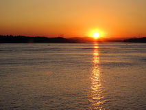 Sonnenuntergang auf dem Columbia River Lizenzfreies Stockbild