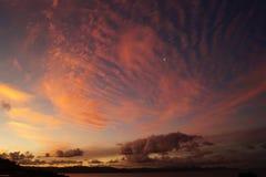 Sonnenuntergang auf dem Coromandel Penisular Lizenzfreie Stockbilder