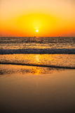 Sonnenuntergang auf dem GOA-Strand Stockfoto